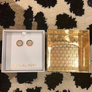 Michael Kors Pave Stud Earrings- NIB